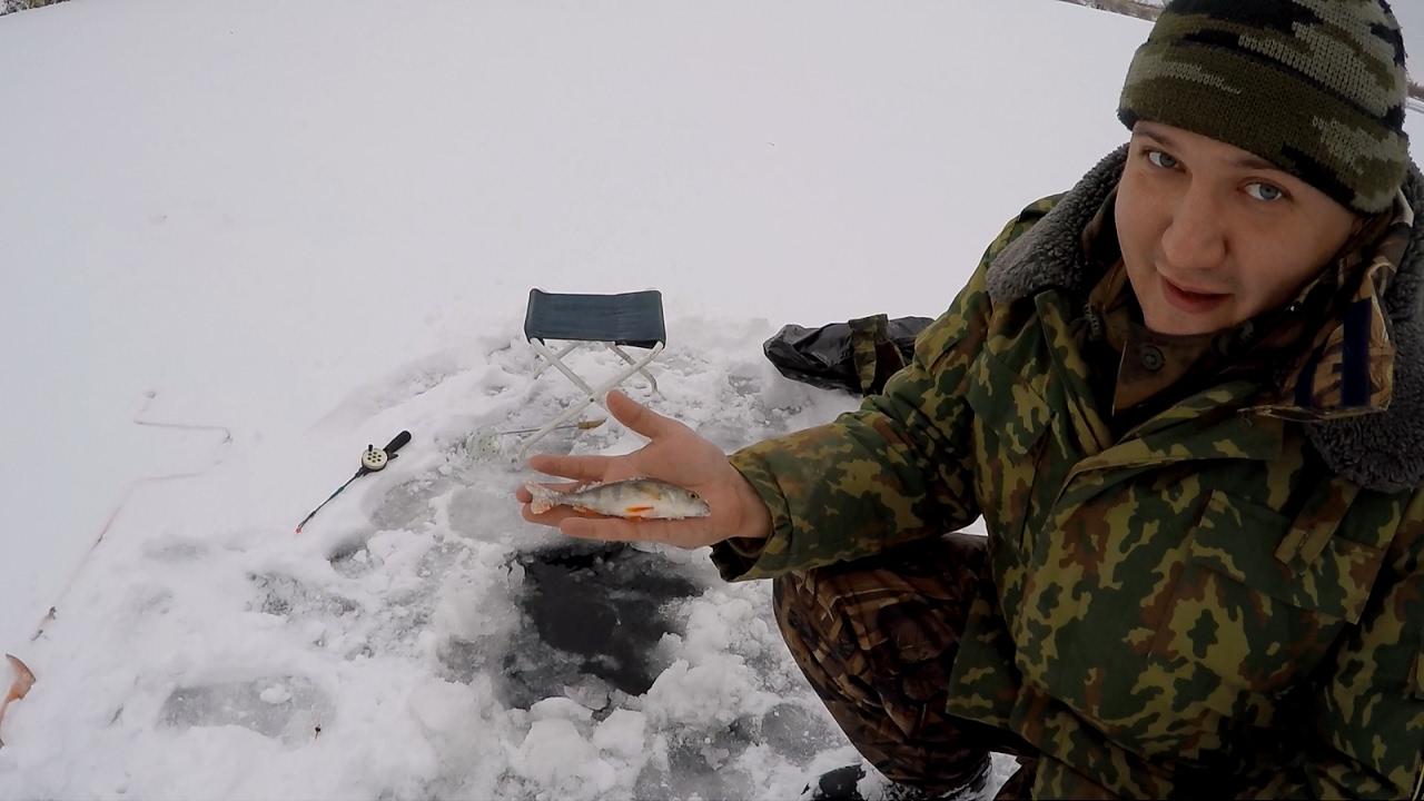 ловля окуня первый лед