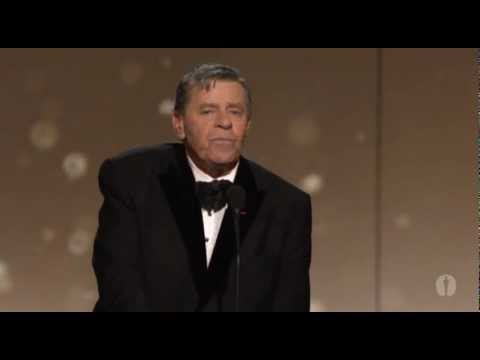 Jerry Lewis receives the Jean Hersholt Humanitarian Award