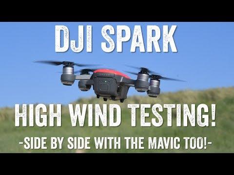 DJI Spark Strong Wind Testing!
