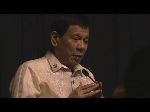 Philippines President Duterte sings love song at Donald 'Trump's request'