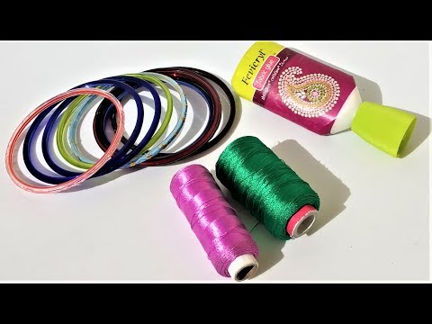 Easy Silk Thread Bangles Making Ideas | Reuse Ideas Of Old Bangles | DIY Art and Craft