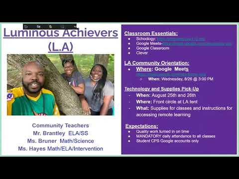 Gamble Montessori High School Parent Orientation 2020-21