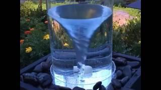Keren Pusaran Air Mancur dalam glass kaca besar
