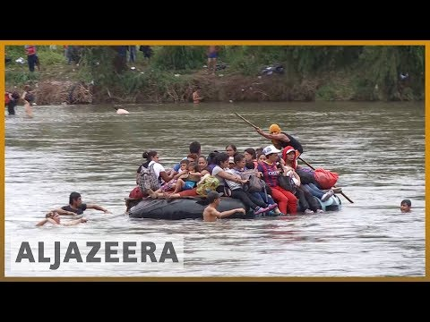🇲🇽 Migrant caravan swims and rafts its way into Mexico   Al Jazeera English