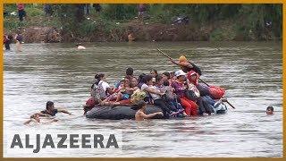🇲🇽 Migrant caravan swims and rafts its way into Mexico | Al Jazeera English