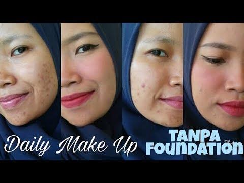 Tutorial Make Up Natural Menutupi Bekas Jerawat