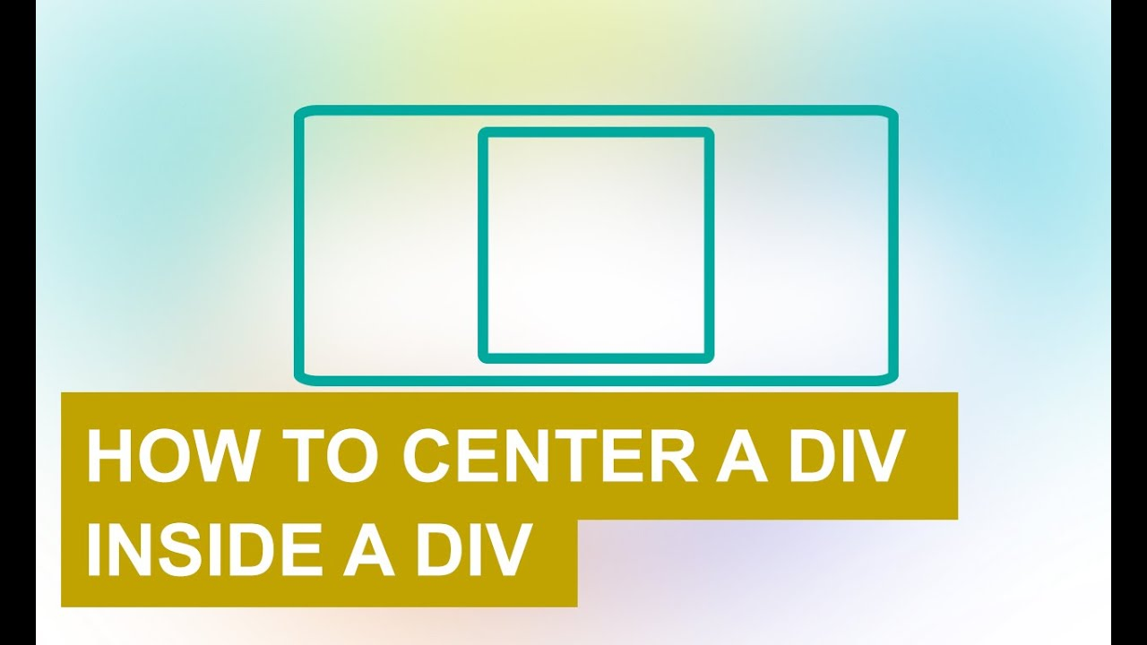 How to center a div inside a div with html and css youtube for Html div