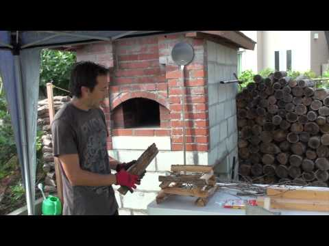 How to Start a Fire and Pre-Heat a Wood Fired Oven for Pizza