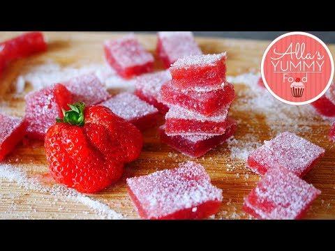 Russian Marmelade Recipe | Strawberry Candy | Клубничный мармелад