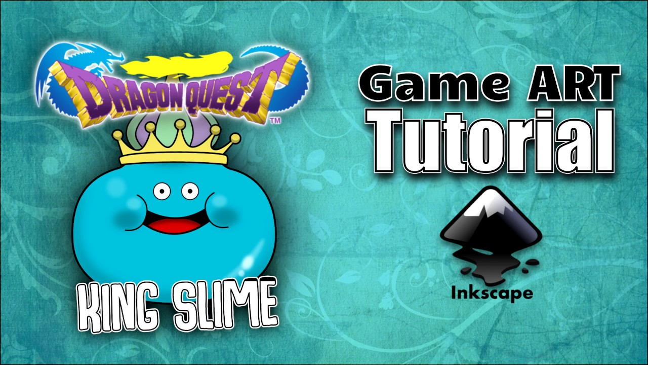 inkscape tutorial king slime from dragon quest youtube