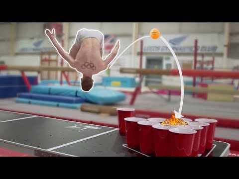 'GYM PONG' CHALLENGE {Gymnasts Vs Divers}