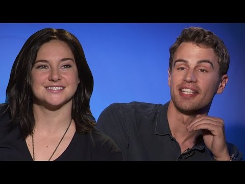 Theo James & Shailene Woodley Talk Kissing In Insurgent 'Rapid Fire'