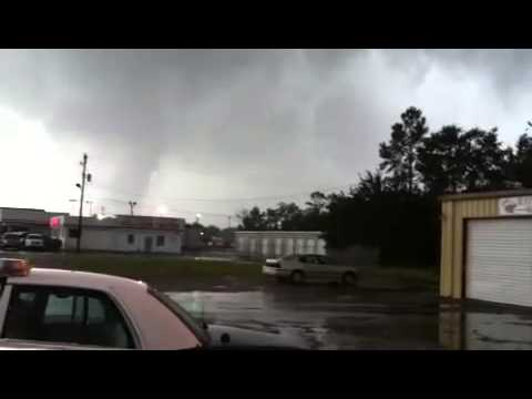 2012Aug29 Tornado during Isaac in Pascagoula Mississippi   YouTube