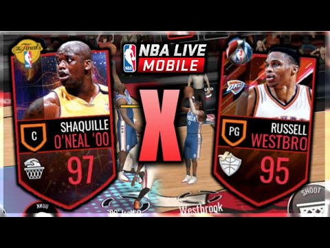 nba live mobile 97 shaq x 95 russ gameplay in the paint. Black Bedroom Furniture Sets. Home Design Ideas