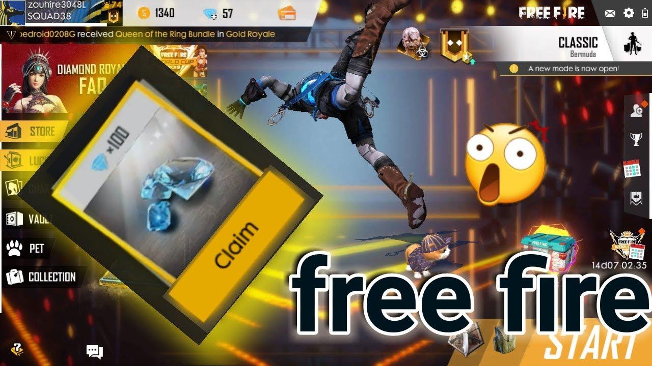 04187f748 free fire شحن بفري فاير جوهرة مجانا وسكن بدون تهكير free fire - YouTube