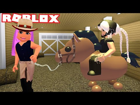 TAKING MY DAUGHTER HORSE RIDING FOR THE FIRST TIME ON ADOPT ME 🐴 | Roblox Roleplay