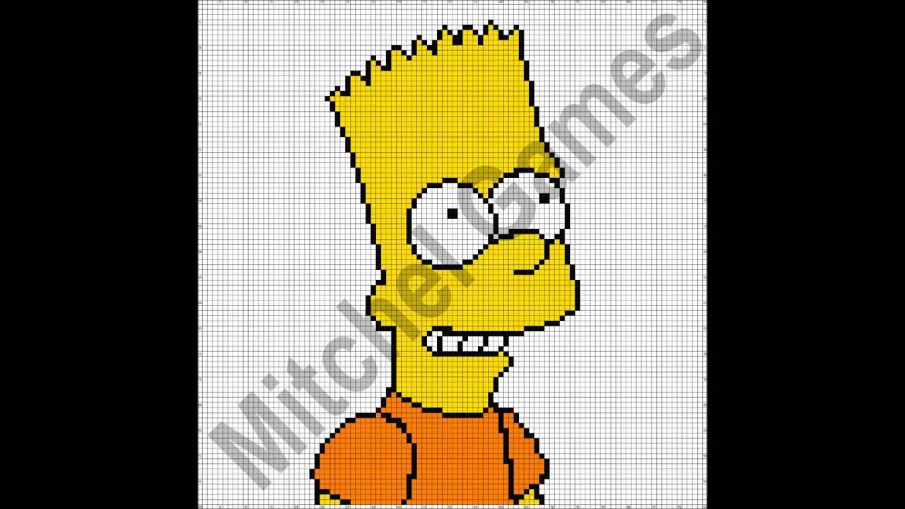 pixel art bart