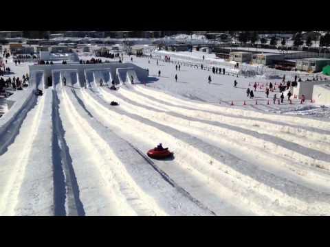Snow Sledding in Sapporo