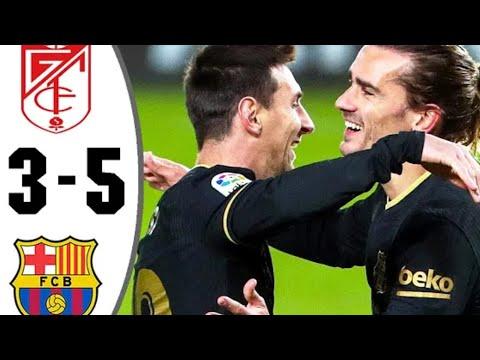 Download Granada vs Barcelona 3-5  -  Extended Highlights & All Goal 2021