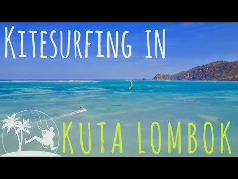 KITE SURFING IN KUTA LOMBOK - KITEBOARDING INDONESIA