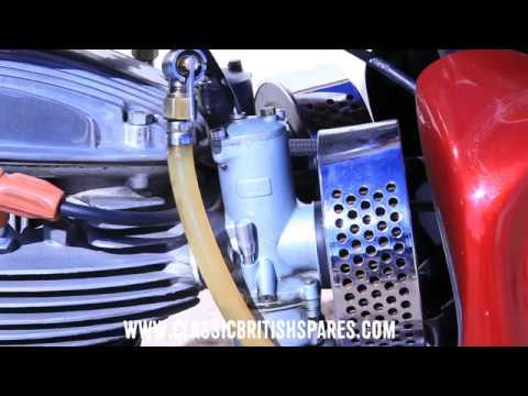 How To Tickle An Amal Carb | Classic British Spares - YouTube