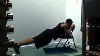 Skull Crusher And Plank With Chair