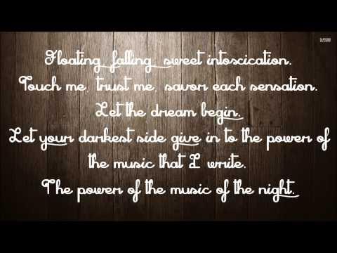 The Music of the Night - David Cook (Lyrics)