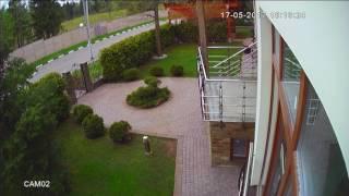 Уличное видеонаблюдение территории возле дома(, 2017-06-09T07:52:57.000Z)