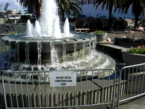 Anaheim Convention Center fountain, California