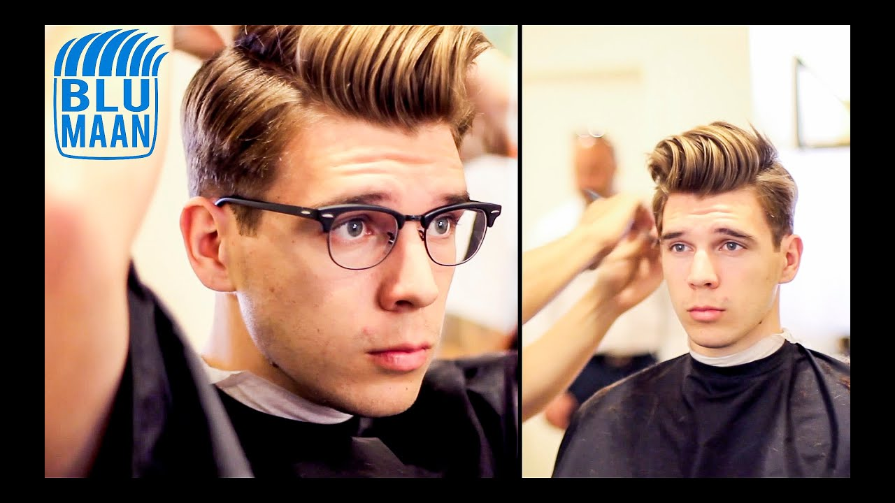 Classic Side Part And Quiff Mens Haircut Hairstyle Youtube