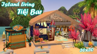 🌴Island Living🍹Tiki Bar   Sims 4 Speed Build   No CC