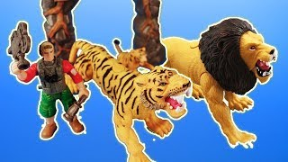 NEW! Animal Planet Rescue Playset - Animal Rescue Black Panther, Leopard, + Lion ~ pocket.watch jr.