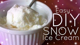 EASY Homemade Snow Ice Cream - NO MACHINE!