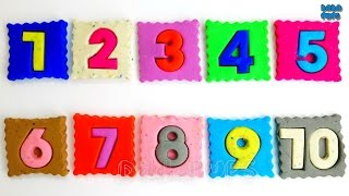 Learn colors with Play Doh|Learn Numbers 1 to 10 with Pillow|Learn To Count with Pillow|Count to 10