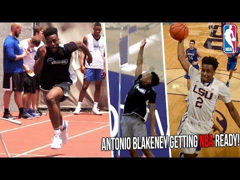 Antonio Blakeney NBA Pre-Draft Workout | LSU Star Tests Vertical, Agility & NBA Skills!