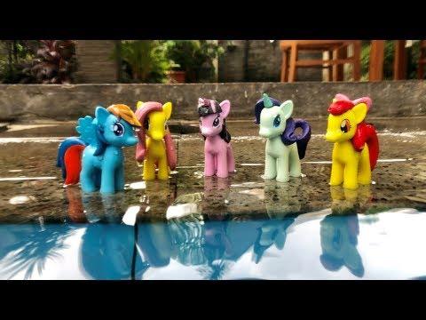 My Little Pony Tersapu Ombak ♥️ Cita Bermain Kuda Poni
