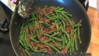 How To Make Green Beans & Caramelized Red Onions
