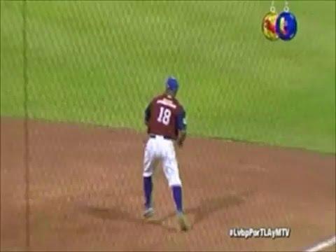 Gran jugada de César Suárez | Tiburones de La Guaira | LVBP 2015-2016