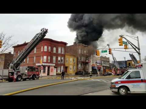 North Bergen Nj Fire Department 4th Alarm furniture Store Fire 12-21-16