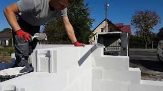 Murowanie bloczków Ytong 24 cm - fragment ściany nośnej budowa domu z229