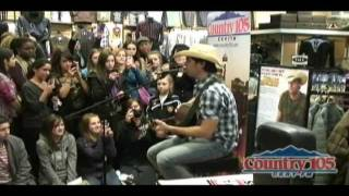 Dean Brody Singing 'People Know You by Your First Name', at Lammle's, Chinook Center,