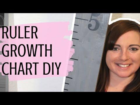 DIY WOOD GROWTH CHART RULER | WOODEN RULER 2019
