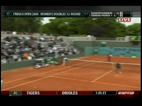 Serena & Venus Doubles 7/7- French Open 2009- 1st Round