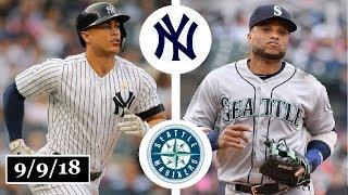 New York Yankees vs Seattle Mariners Highlights || September 9, 2018