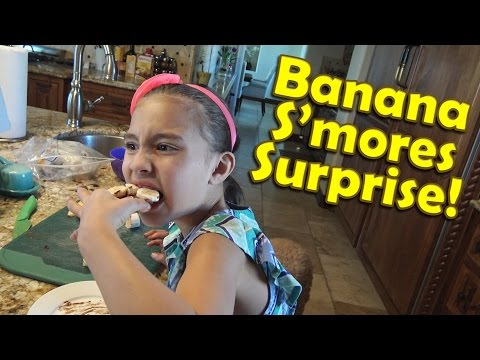 BANANA S'MORES SURPRISE!!! Original Recipe by Jillian!