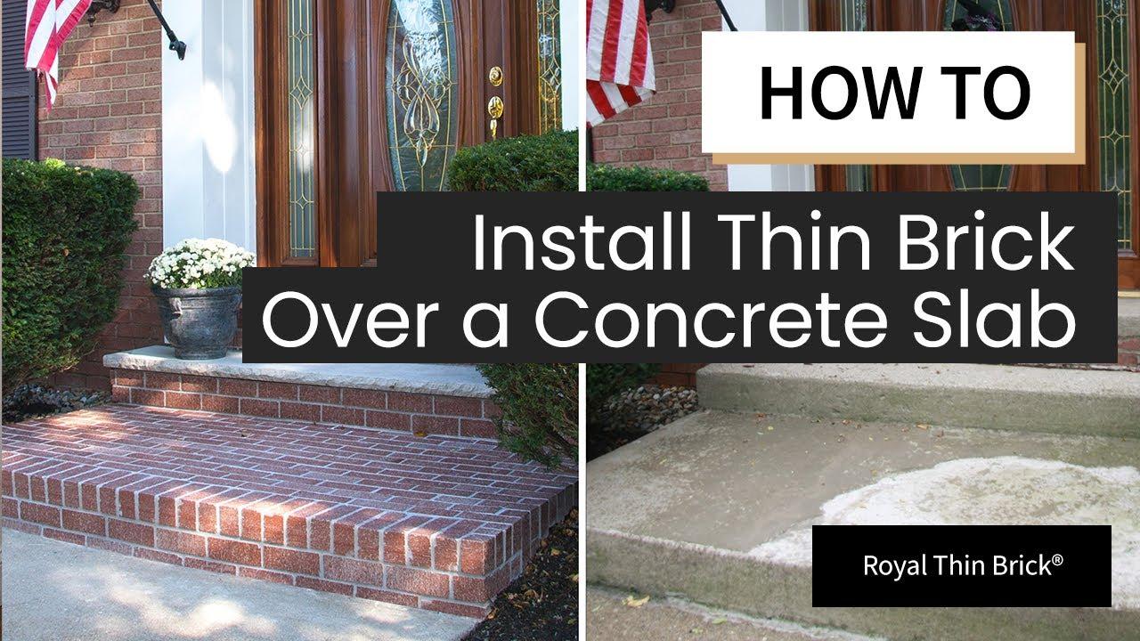 Installing Thin Brick Veneer Outdoor