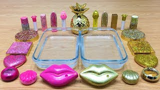 PINK vs GOLD ! Mixing Makeup Eyeshadow Into Slime! Special Series #22 Satisfying Slime Video