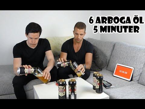 6 Arboga öl (10,2%) på 5 minuter + Promillekoll