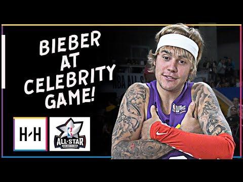 Justin Bieber Full Highlights at 2018 All-Star Celebrity Game | Feb 16, 2018