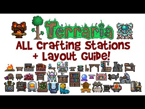 ALL Terraria Crafting Stations & Layout Guide! (Including Best Crafting Station Setup/Room/House)